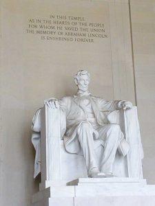 ארצות הברית, וושינגטון פסל לינקולן