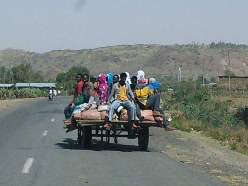 אתיופיה, דמויות-משפחה-בעגלה